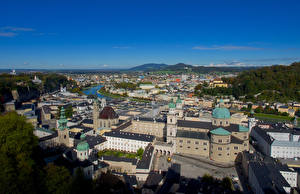 Picture Germany Salzburg Building From above Cities