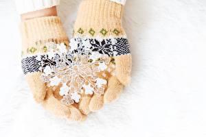 デスクトップの壁紙、、手袋、雪の結晶、
