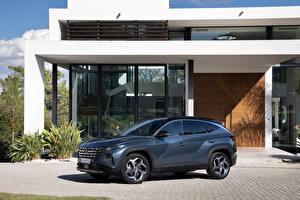 Fondos de escritorio Hyundai Crossover Metálico Tucson Hybrid (NX4), 2021 el carro