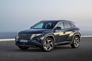 Fondos de escritorio Hyundai Crossover Metálico Tucson Hybrid (NX4), 2021 automóvil
