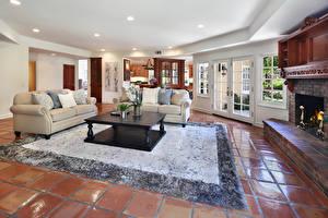 Wallpaper Interior Design Lounge sitting room Carpet Sofa Table