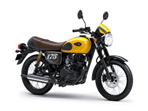 Pictures Kawasaki White background Side 2019 W175 Cafe Motorcycles