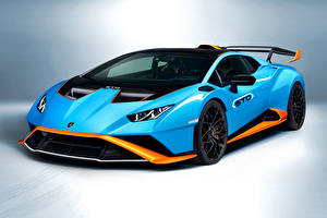 Wallpaper Lamborghini Light Blue Metallic  Cars