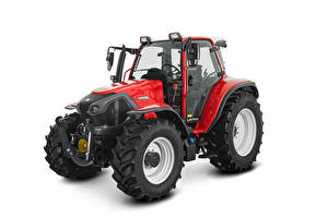 Fotos & Bilder Traktor Rot Weißer hintergrund Lindner Lintrac 95 LS, 2020 Natur