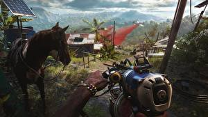 Picture Machine guns Horses Far Cry 6 vdeo game