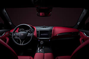 Wallpapers Maserati Salons Crossover Steering wheel Levante S Q4 GranSport, (M161), 2020 Cars pictures images