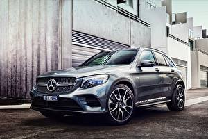Bureaubladachtergronden Mercedes-Benz Cross-over auto X253 GLC-class auto's