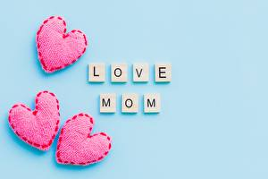 Pictures Mother's Day Heart Colored background