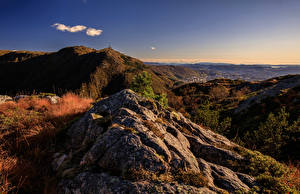 Tapety na pulpit Norwegia Góra Jesienne Skansemyren przyroda