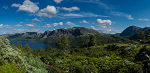 Wallpapers Norway Mountains Sky Clouds Suldal