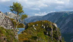 Bakgrundsbilder på skrivbordet Norge Berg Stenar Klippa Rogaland