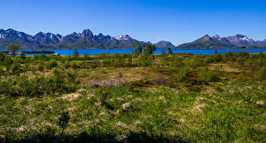Images Norway Mountains Vesteralen Nature