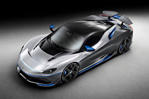 Image Pininfarina From above Gray background Grey Battista 'Anniversario', 2020 automobile