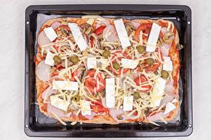 Fotos & Bilder Pizza Wurst Käse Tomate Lebensmittel