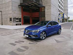 Bakgrundsbilder på skrivbordet Renault Blå Metallisk  bil