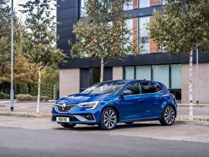 Bakgrundsbilder på skrivbordet Renault Blå Metallisk  Bilar