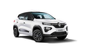 Bakgrundsbilder på skrivbordet Renault Crossover Vit Metallisk Kwid Ultra, ZA-spec, 2020