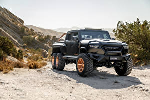 Bilder Pick-up Schwarz Rezvani Hercules 6x6, 2020 automobil