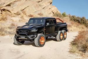 Фотографии Пикап кузов Черная Rezvani Hercules 6x6, 2020 Автомобили