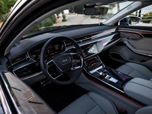 Fonds d'écran Salons Audi Volant directionnel A8 S8 2020 2019 V8 Biturbo