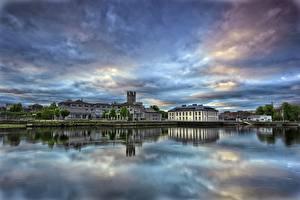 Fondos de escritorio Cielo Irlanda Río Edificio Limerick Ciudades