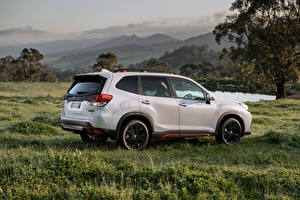 Wallpapers Subaru White Metallic Side Sport utility vehicle Forester 2.5i Sport, AU-spec, 2020 automobile