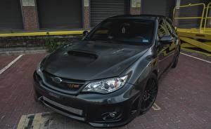 Fondos de escritorio Subaru Negro Fibra de carbon Impreza WRX STI Grey autos