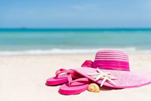 Picture Summer Hat Flip-flops