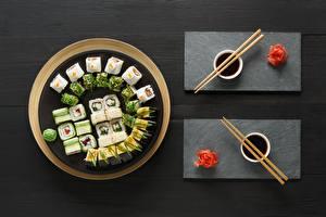 Hintergrundbilder Sushi Ingwer Essstäbchen Sojasauce