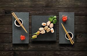 Papel de Parede Desktop Sushi Gengibre Hashi Molho de soja comida