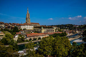 Images Switzerland Bern Houses River Towers Cities