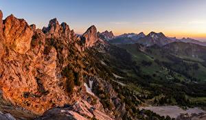 Bilder Schweiz Berg Landschaftsfotografie Alpen Felsen Fribourg Natur