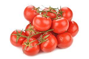 Hintergrundbilder Tomate Nahaufnahme Weißer hintergrund Lebensmittel