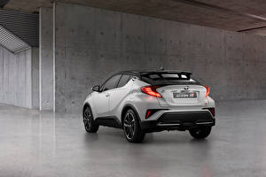 Image Toyota Crossover White Metallic Back view C-HR Hybrid GR Sport, EU-spec, 2020 Cars