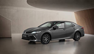 Tapety na pulpit Toyota Szara Metaliczna Camry Hybrid, EU-spec, 2020 Samochody
