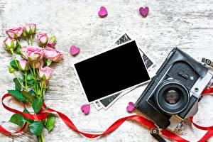 Pictures Valentine's Day Rose Template greeting card Camera Heart flower