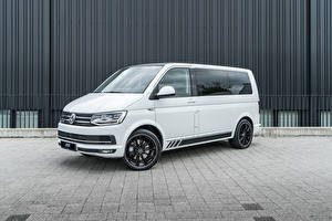 Sfondi desktop Volkswagen Monovolume Bianco 2018-20 ABT Multivan autovettura