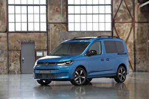 Wallpaper Volkswagen Light Blue 2020 Caddy Life Worldwide Cars