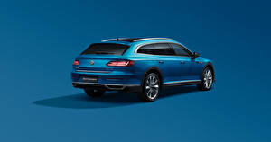 Picture Volkswagen Blue Metallic Estate car Colored background CC Shooting Brake 380 TSI, China, 2020