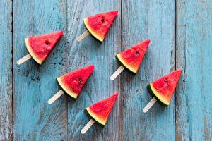 Wallpapers Watermelons Pieces Food