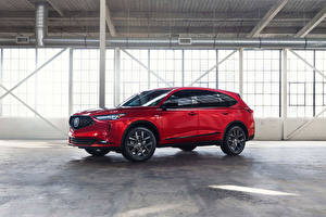 Photo Acura Red Metallic Crossover MDX A-Spec, North America, 2021 automobile
