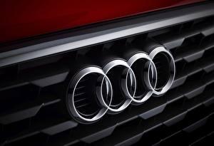 Pictures Audi Logo Emblem Closeup