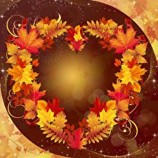 Wallpaper Autumn Foliage Template greeting card