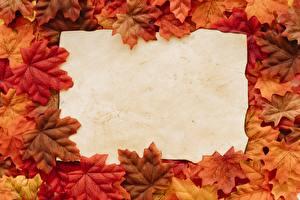 Image Autumn Template greeting card Maple Leaf