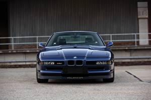 Wallpapers BMW Front Blue Alpina 8-series B12 5.7 auto