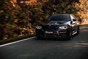 Wallpapers BMW Black M5 V8 F90 G5M Bi-Turbo Cars