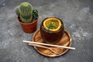 Image Cactuses Tea Lemons Flower pot Cup Spoon Food Flowers