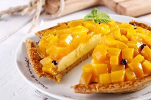 Fondos de escritorio Pastel de queso Pastelón Mango