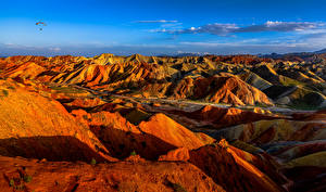 Images China Mountains Parks Cliff Danxia Landform Geopark Nature