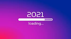 Papel de Parede Desktop Ano-Novo 2021 Cor de fundo